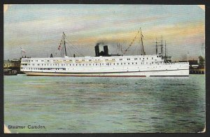 Steamer Camden At Sea Used c1910