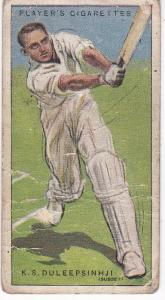 Cigarette Cards Player's Cricketers 1930 No 11 - K S Duleepsinhji