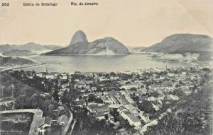 RIO DE JANEIRO BRAZIL~BAHIA de BOTAFOGO ~A RIBEIRO #252 POSTCARD 1910s