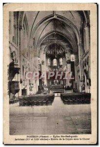 Old Postcard Poitiers (Vienna) Eglise Ste Radegonde Interior (XI and XIII Cen...