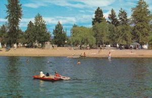 Swimming, Sun Bathing at Bluebird Bay Resort, Okanagan Lake, Kelowna, British...