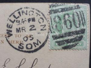 Somerset: c1905 Wellington / Som DUPLEX (860) Postmark
