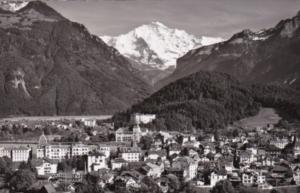 Switzerland Interlaken mit Jungfrau 1956 Photo