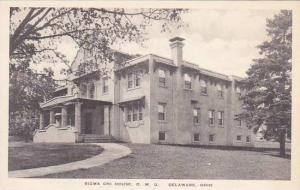 Ohio Delaware Sigma Chi House O W U Albertype