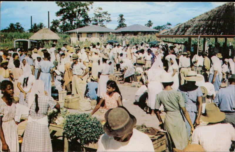 Typical natives Trinidad market