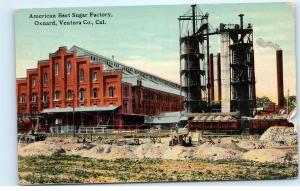 American Beet Sugar Factory Oxnard Ventura Co California CA Vintage Postcard A67