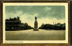 Antique postcard Main Street Bulawayo Zimbabwe embossed colour printed