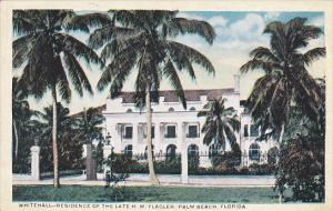 Whitehall Residence Of The Late H M Flagler Palm Beach Florida