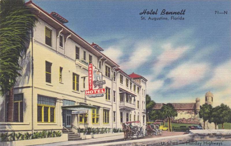Hotel Bennett, St. Augustine, Florida, 30-40s