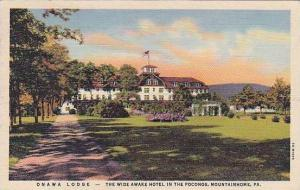 Pennsylvania Mountainhome Onawa Lodge Curteich
