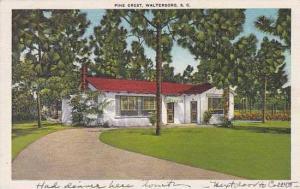 South Carolina Walterboro Pine Crest Restaurant