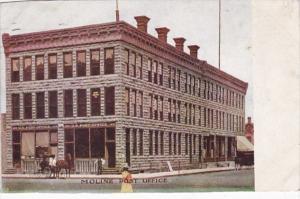 Illinois Moline Post Office 1910
