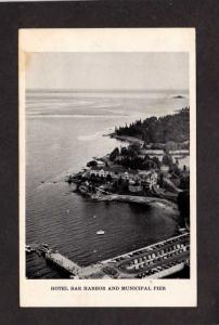 ME Acadia National Park Mt Desert Island Hotel Pier Bar Harbor Maine Postcard