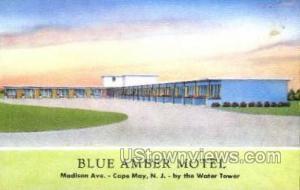 Blue Amber Motel  Cape May NJ Writing on back