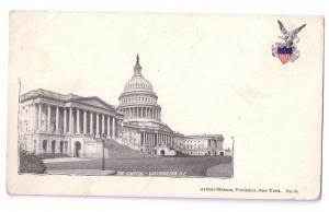Washington DC Capitol Strauss PMC Private Mailing Card UDB