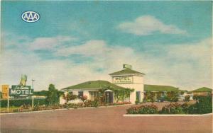 1940s La Siesta Motel Sacramento California roadside Kim Color Cards 12103