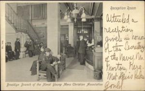 Brooklyn NY Naval YMCA Interior c1905 Postcard