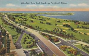 Illinois Chicago Outer Drive North From Irving Park Road Curteich