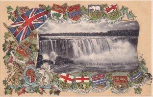 NIAGARA FALLS, Ontario, Canada, PU-1907; Horse Shoe Falls From Canadian Park,...