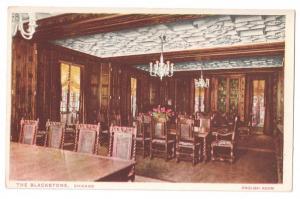 The Blackstone English Room Chicago Illinois IL Postcard