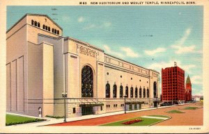Minnesota Minneapolis New Auditorium and Wessley Temple 1939 Curteich