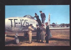 U.S. AIR FORCE FLIGHT SCHOOL JET LACKALAND BASE SAN ANTONIO TEXAS POSTCARD