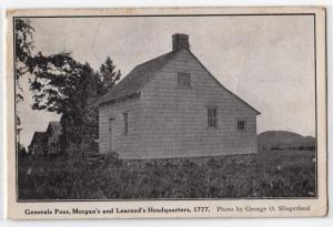 Gen Poor Morgan & Learned's Hq, Battle Saratoga NY