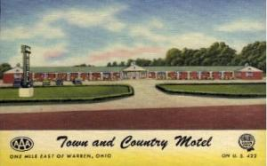 Town and Country Motel Warren OH Unused