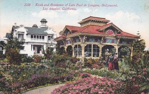 Kiosk & Residence of the Late Paul de Longpre, HOLLYWOOD, California, PU-1913