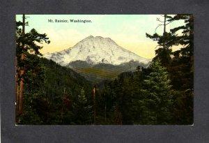 WA Mt Mount Rainier Washington State nr Seattle Vintage Postcard