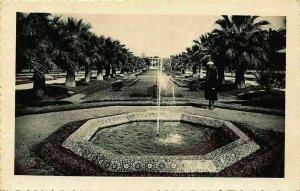 Morocco Casablanca Parc Lyautey Un Bassin Park Fountain Postcard