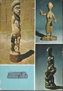 Vintage 1971 Postcard CARVINGS by ZAMBIAN ARTISTS Zambia