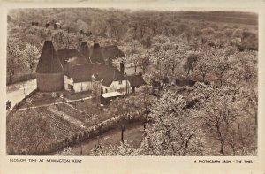 NEWINGTON KENT ENGLAND~BLOSSOM TIME~AERIAL PHOTO POSTCARD