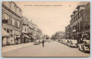 Melrose Massachusetts~Main Street~Jones Stores~Real Estate~Trust Co~1940s B&W