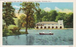 New Jersey Princeton Carnegie Lake and Boat House Princeton University Curteich