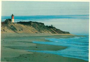 Eastman Mass Lighthouse Cape Cod National Museum 3 Sisters naus Postcard  # 8107