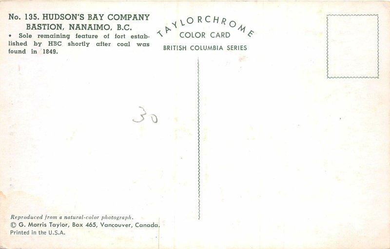 Lot157 canada hudson s bay company bastion nanaimo b c