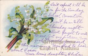 Flower Greetings , LAMBERT , Alabama , PU-1910