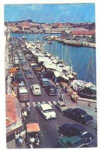 Air view, Floating Market, Curacao, Netherland Antilles, 40-60s