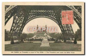 Old Postcard Paris Trocadero seen on the Eiffel Tower
