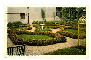 MA - Greenfield. The Weldon Hotel, Patio