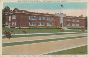VALDOSTA, Georgia , 1910-30s; Valdosta High School