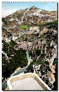 Verdon - The Picturesque Gorge - A Balcony Mescla - Old Postcard