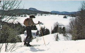 A scenic view from one of the many cross country ski trails,  Quebec,  Canada...