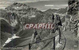 Postcard Modern Felsenweg Strelapass Parsenn