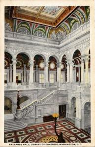 ENTRANCE HALL LIBRARY OF CONGRESS WASHINGTON D C