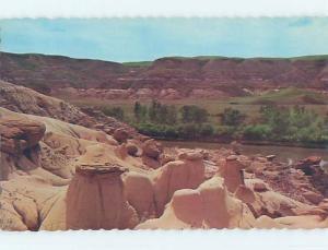Unused Pre-1980 TOWN VIEW SCENE Drumheller Alberta AB p8071