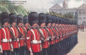 The Grenadier Guards Kings Birthday Parade War Military Gale & Polden Postcard