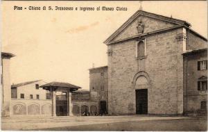CPA Pisa Chiesa di S.Francesco e Ingresso al Museo Civico ITALY (800633)