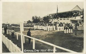 Accra British Colony Ghana Gold Coast Empire Day 1925 Real Photo Postcard